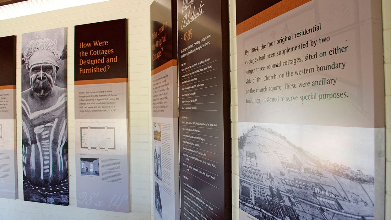 New Norcia Mission Cottages Interpretive Centre Didactic Panels