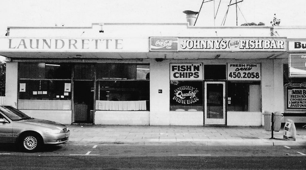 Johnny's Fish Bar in the early days.