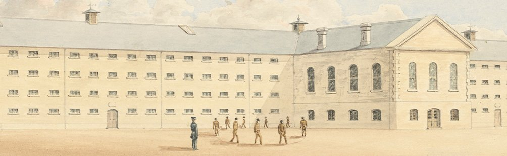 Convict prison, Fremantle 1859 by Henry Wray