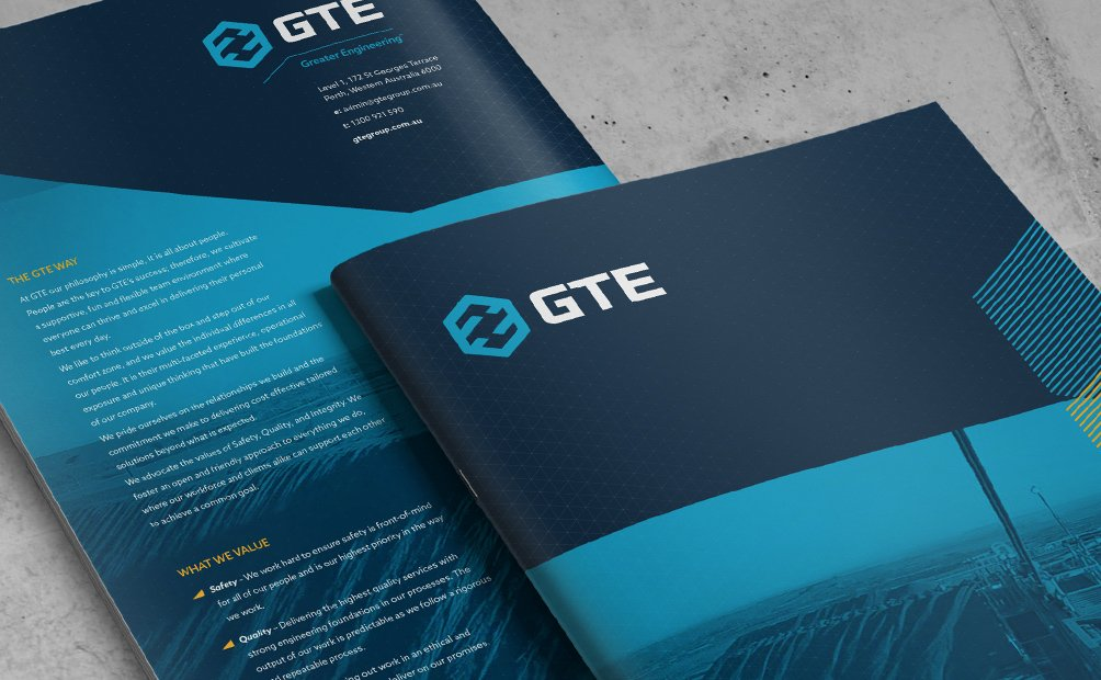 The GTE Group Capability Statement, designed by Axiom.
