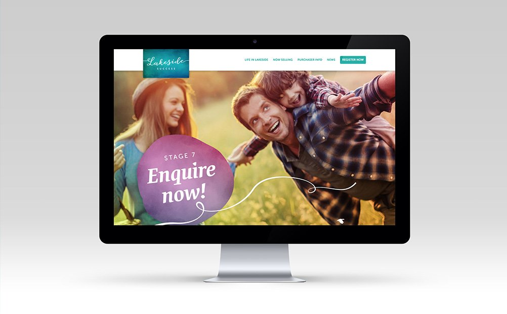 Website for Lakeside Success private estate in Perth by Axiom Design Partners