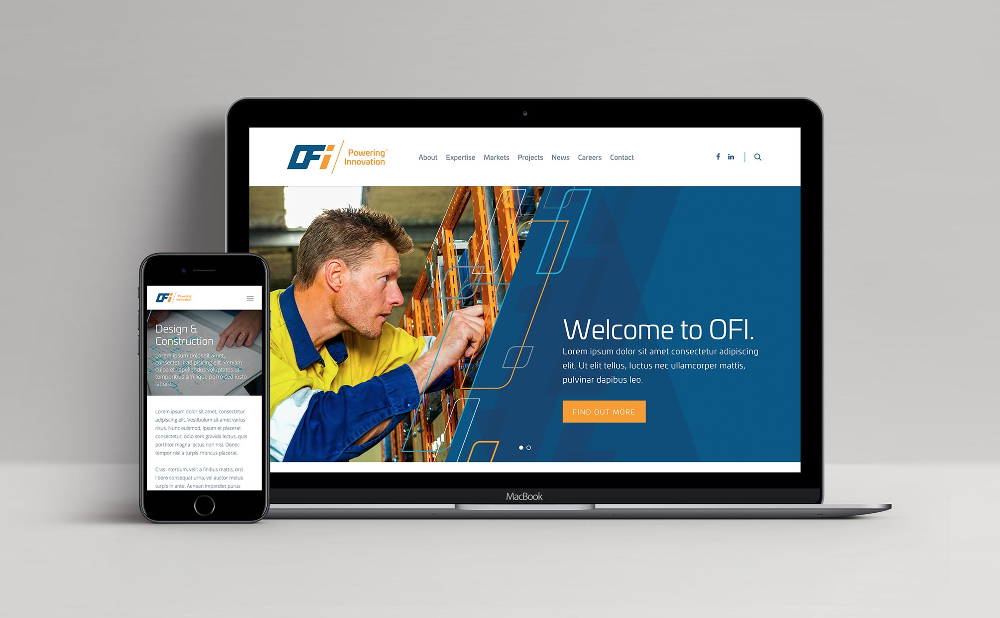New website design for OFI